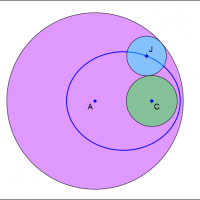 Ellipse as locus of circle center