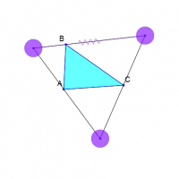 Largest Outscribed Equilateral Triangle
