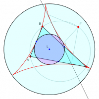 Simpson Line and 9 point Circle